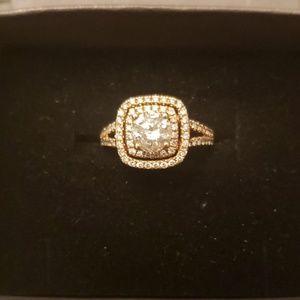 Jewelry - 14kt rose gold diamond ring center diamond 1ct
